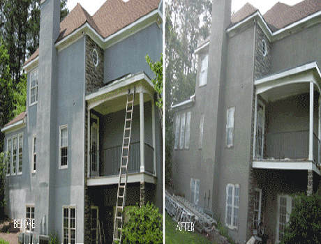 exterior house painters in kansas city painting a house