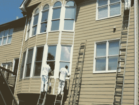 painting process before exterior home painting in kansas city